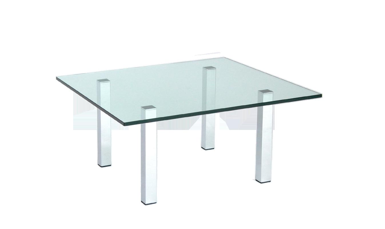 DesignGlastisch nach Maß  Tischbeine UVVerklebt
