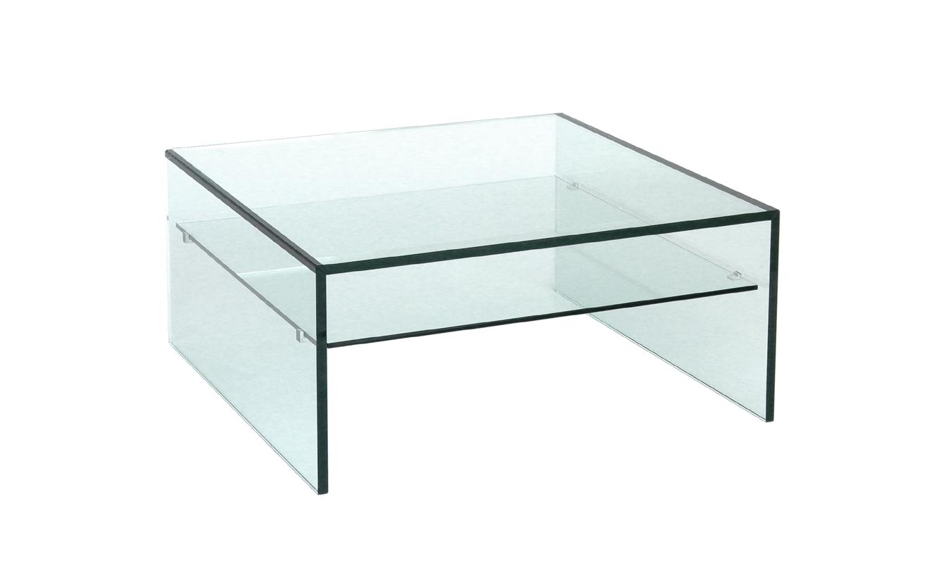 NurglasDesignCouchtische Floatglas, satiniertes, helles (Optiwhite