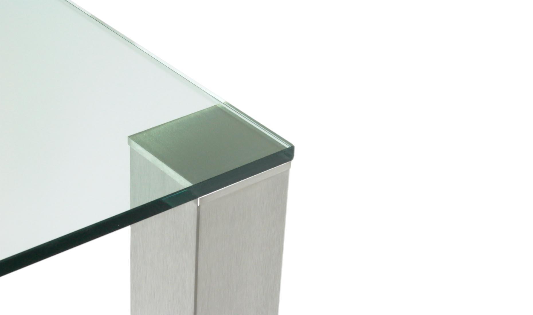 Esstisch glas edelstahl  Glas-Esstisch nach Maß - CUB-100 (Hersteller - Deutschland)