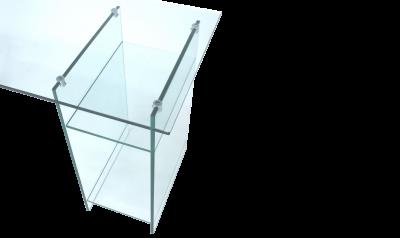 esstische glas nach ma design schreibtische sonderformen fertigung. Black Bedroom Furniture Sets. Home Design Ideas
