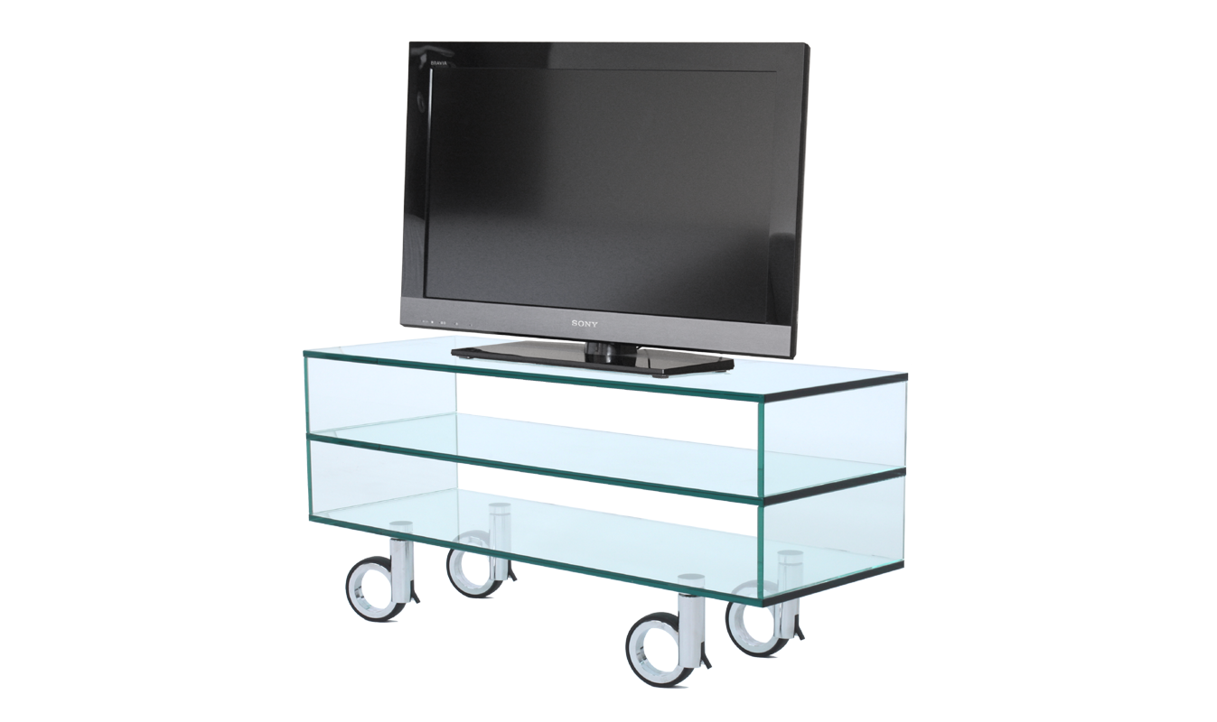 tv regal glas rack sideboard open look und duo. Black Bedroom Furniture Sets. Home Design Ideas
