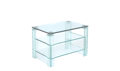 TV HiFi Glas Regal nach Maß - uv-verklebtes Floatglas, helles (Optiwhite)