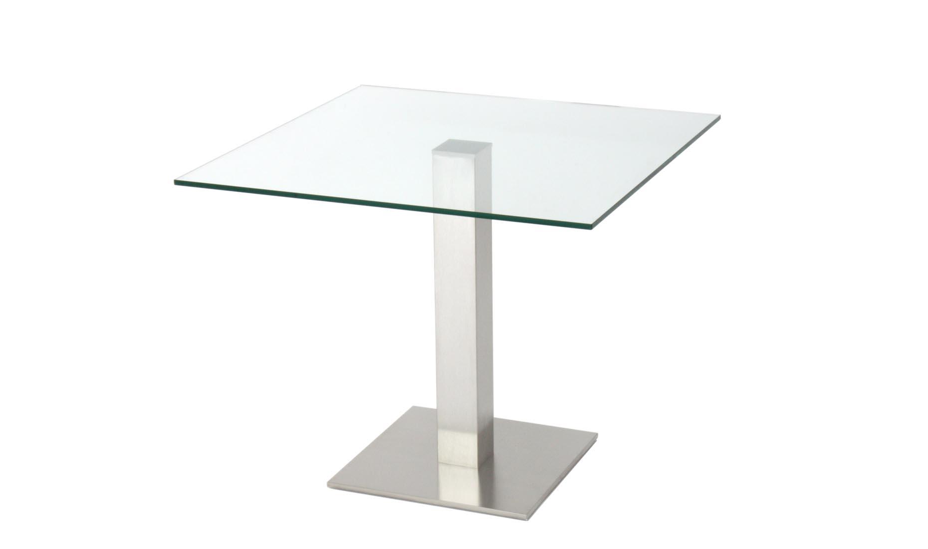 Glas-Esstisch nach Maß - CUB-100 (Säulentische, Esstische)