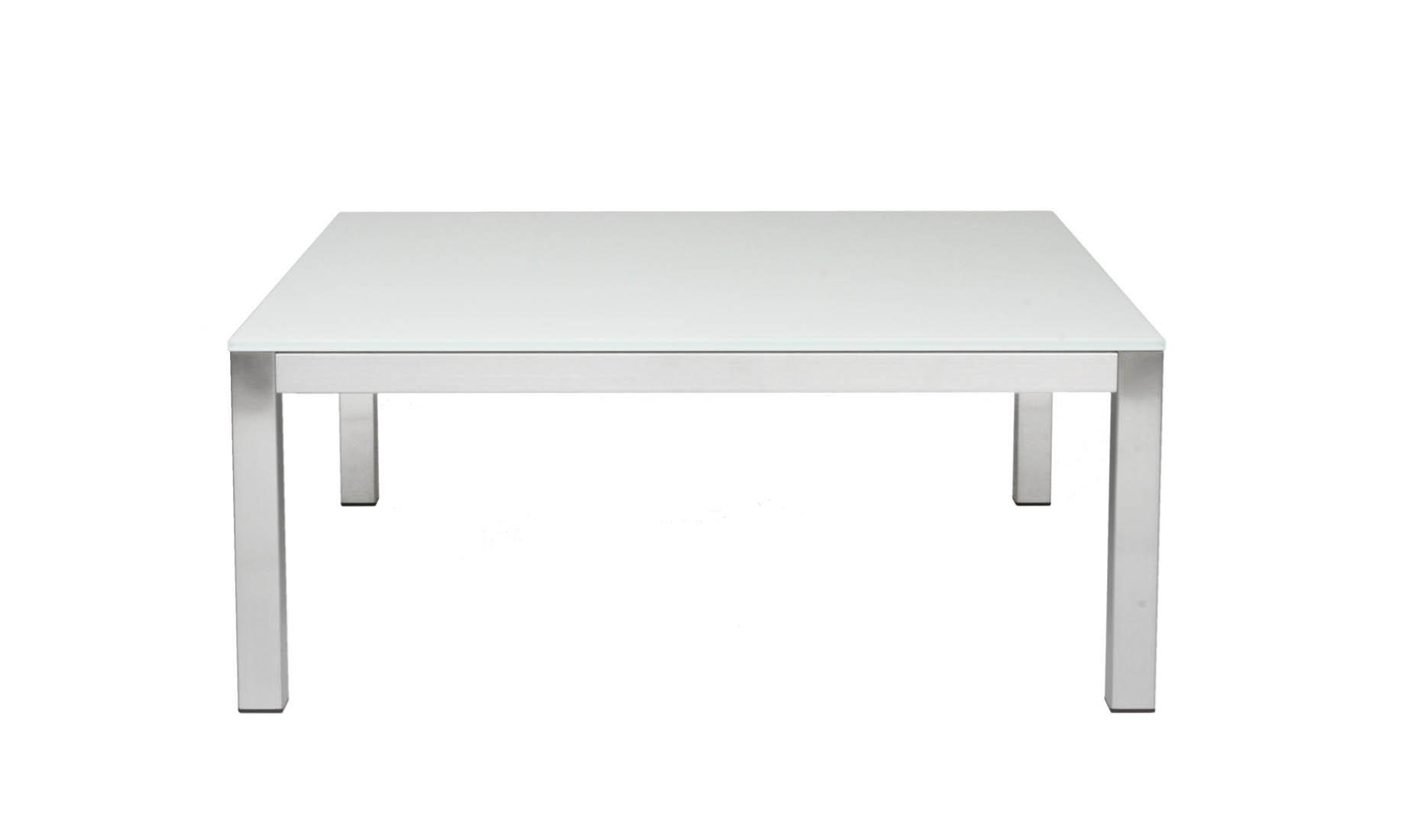 Couchtische Nach Mass Tischgestelle Edelstahl Glasplatte Lackiert